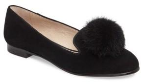 Louise et Cie Women's Andres Genuine Rabbit Fur Pom Loafer