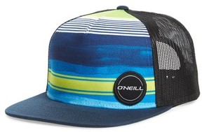 O'Neill Men's Hyperfreak Mesh Snapback Trucker Cap - Green