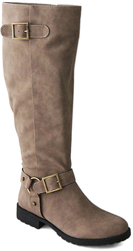 Bamboo Taupe Double Buckle Monterey Boot