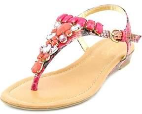 Thalia Sodi Fuerto Bejeweled Flat Thong Sandals.