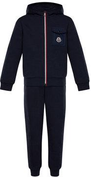Moncler Zip-Up Hooded Jacket w/ Sweatpants, Size 4-6