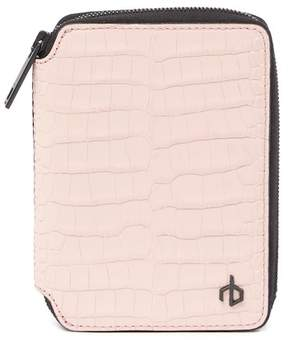 Rag & Bone Croc Embossed Leather Zip Wallet