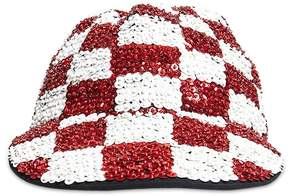 Forever 21 Checkered Sequin Duckbill Cap