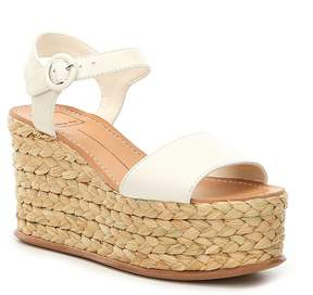 Dolce Vita Dane Leather Platform Espadrille Wedge Sandals