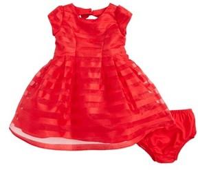 Us Angels Infant Girl's Short Sleeve Stripe Dress