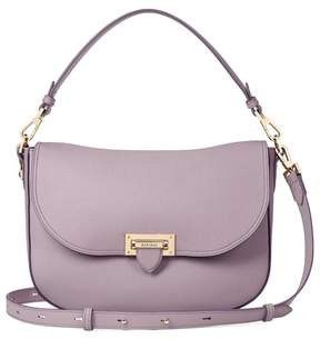 Aspinal of London | Slouchy Saddle Bag In Lilac Pebble | Lilac pebble