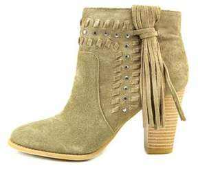INC International Concepts Womens Jade Almond Toe Ankle Cowboy Boots.