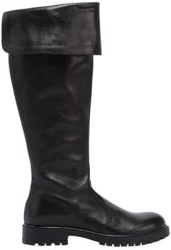 Momino Nappa Leather Boots W/ Studded Trim