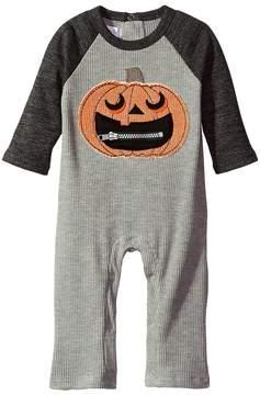 Mud Pie Halloween Pumpkin One-Piece (Infant)