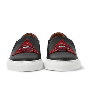 Givenchy Appliquéd Leather Slip-On Sneakers