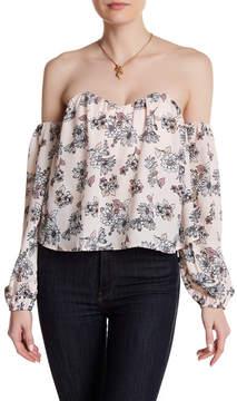 Dee Elly Floral Off-the-Shoulder Shirt