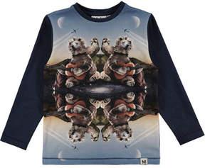 Molo Rexol Kaleidoscope Bear Long-Sleeve T-Shirt, Size 4-10