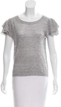 White + Warren Rib Knit Short Sleeve Top