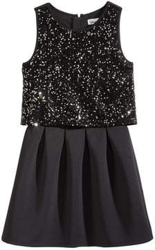 Epic Threads Sequin Popover Fit & Flare Dress, Big Girls (7-16), Created for Macy's