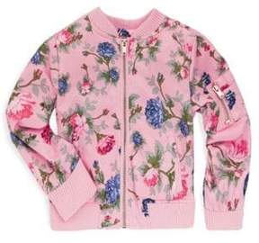 Urban Republic Little Girl's Graphic Print Bomber Jacket
