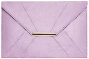 Lilac Envelope Clutch Bag