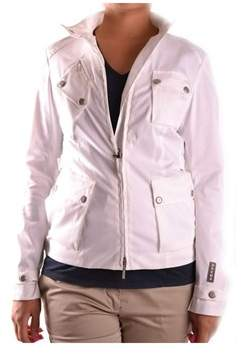 Brema Women's White/black Cotton Outerwear Jacket.