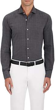Barba Men's Marled Cotton Voile Shirt