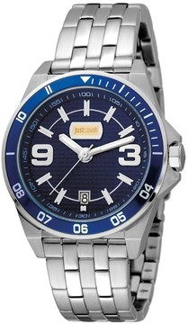 Just Cavalli Blue Dial Men's Stainless Steel Watch