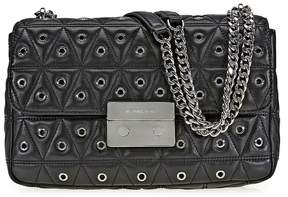 Michael Kors Sloan Large Studded Shoulder Bag- Black - ONE COLOR - STYLE