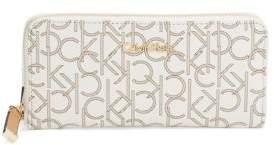 Calvin Klein Monogrammed Zip Around Wallet