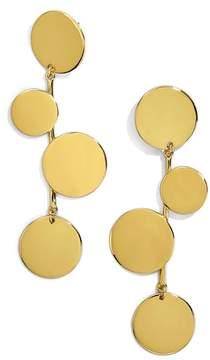 BaubleBar Rona Alternating Disc Statement Earrings