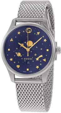 Gucci G-Timeless Blue Motifs Dial Men's Watch