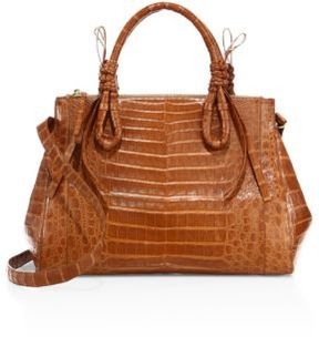 Nancy Gonzalez Large Double Tie-Knot Crocodile Tote