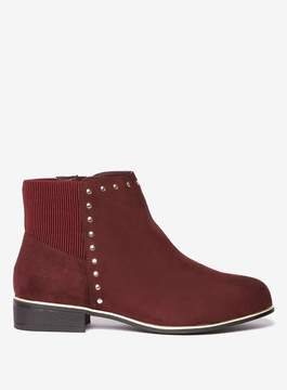 Dorothy Perkins Wide Fit Burgundy 'Mercie' Ankle Boots
