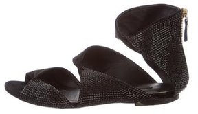 Louis Vuitton Suede Embellished Sandals