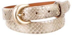 Ralph Lauren Metallic Python Waist Belt