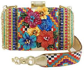 Mary Frances Jubilee Embellished Floral and Geometric Crossbody Handbag
