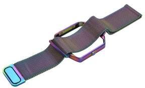 Fitbit AGPtek Watch Band Stainless Steel Bracelet Strap Metal Frame Holder for Blaze Colorful
