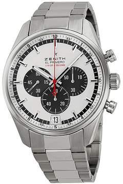 Zenith El Primero Striking 10th Silver Dial Chronograph Stainless Steel Men's Watch