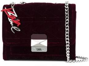 Karl Lagerfeld X Kaia Velvet Handbag