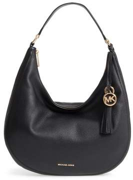 MICHAEL Michael Kors Large Lydia Leather Hobo - Black
