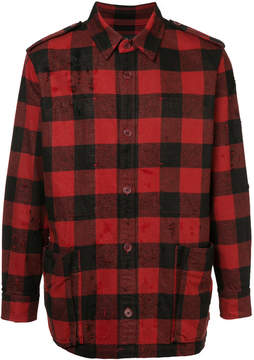 Roar distressed checked jacket