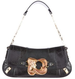 Dolce & Gabbana Embellished Leather Pochette - BLACK - STYLE