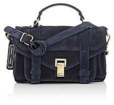 Proenza Schouler Women's PS1 Tiny Suede Shoulder Bag - Navy