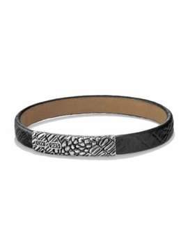 David Yurman Naturals Sterling Silver & Alligator Leather Bracelet
