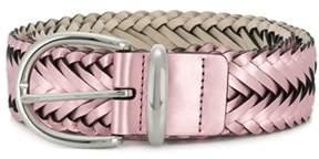 B-Low the Belt Women's Bt2140petalsilver Pink Faux Leather Belt.
