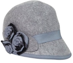 Nine West Women's Grosgrain Rosette Felt Wool Cap (OS, Grey)
