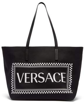 Versace Logo Canvas Tote - Womens - Black Multi