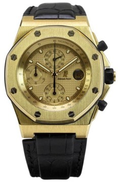 Audemars Piguet Royal Oak Offshore 18K Yellow Gold Automatic Chronograph Mens Watch