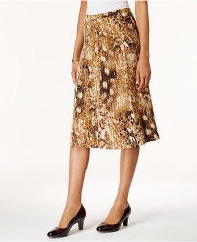 Alfred Dunner Jungle Love Printed Pleated Skirt