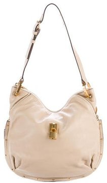 Marc Jacobs Leather Angie Hobo - NEUTRALS - STYLE