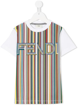 Fendi Kids color block T-shirt