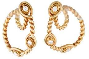Christian Dior Diamond Rope Loop Earrings
