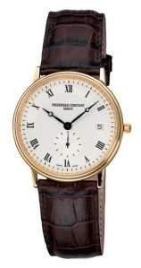 Frederique Constant Classics Slim Line Silver Dial Leather Men's Watch