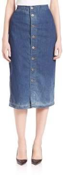 AG Adriano Goldschmied Thea Calf Length Skirt